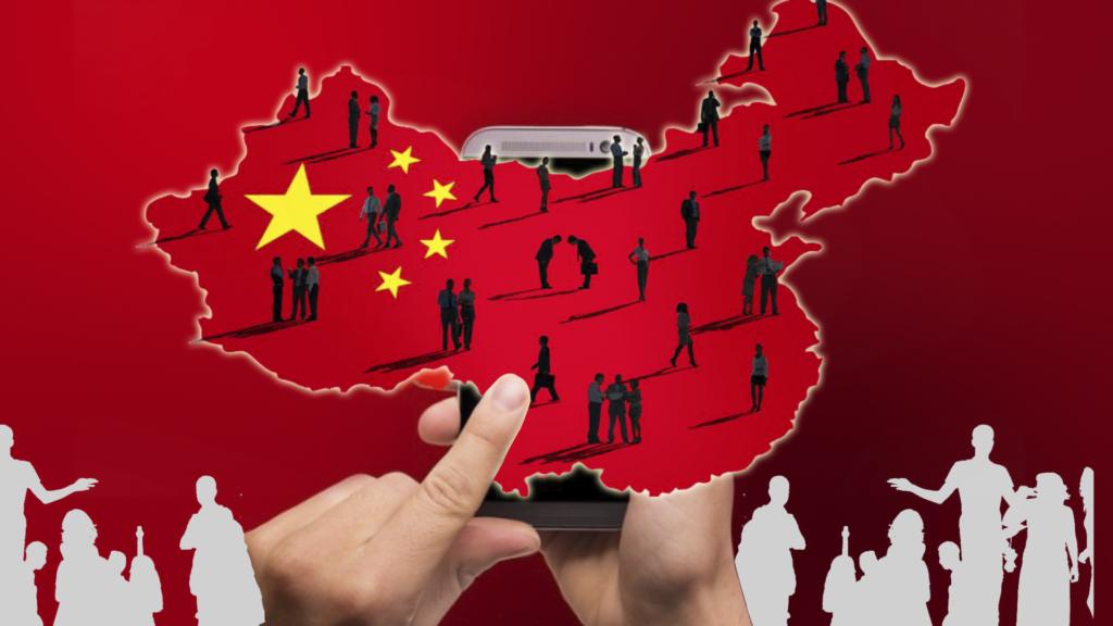 китайские пользователи в телефоне